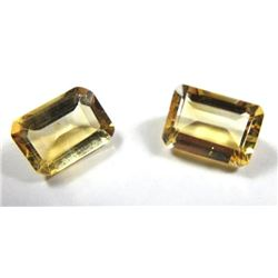 1.5 ct. Citrine Matched Pair