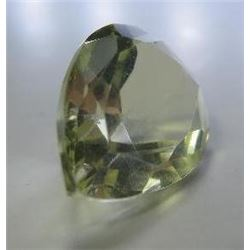 3.35 ct. Canary Yellow Palasite from meteorite