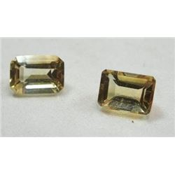 1.72 ct. Matched Pair Yellow Tourmaline