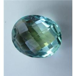 6.82 ct. Green Beryl AAA checkboard