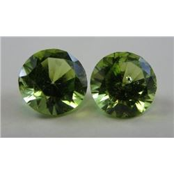 1.73 ct. Peridot matched pair