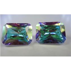 36.91 Mercury Mystic Topaz AAA  matched pair