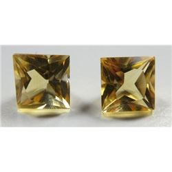 3.70 ct. Golden Citrine  matched pair