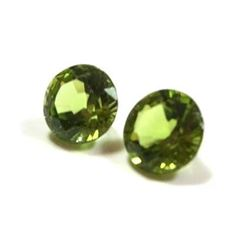 1.90 ct. Peridot Rounds matched pair
