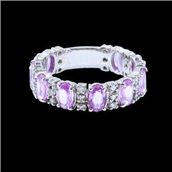 1.48ct Pink Sapphire 14K White Gold Ring