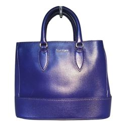 Max Mara Royal Blue Leather Handbag