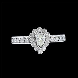 0.35CT NATURAL DIAMOND 14K WHITE GOLD RING