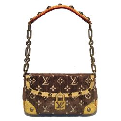 Limited Edition LOUIS VUITTON Monogram Velvet Trompe L oeil Pochette