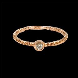 0.06CT NATURAL DIAMOND 14K ROSE GOLD RING