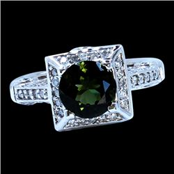 1.84CT NATURAL GREEN TOURMALINE 14K W/G RING