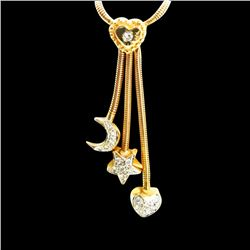 0.50ct Approx Diamond 14K Yellow Gold Necklace