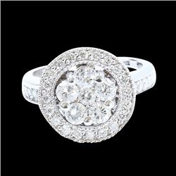 1.33CT NATURAL DIAMOND 14K WHITE GOLD RING