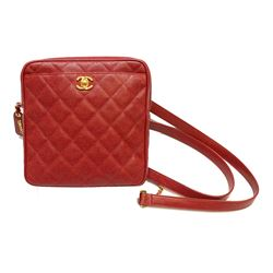 Chanel red caviar vintage backpack