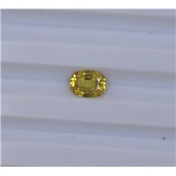 1.49ct Yellow Sapphire Oval cut