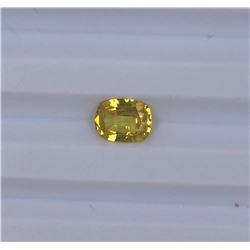 1.48ct Yellow Sapphire Oval cut