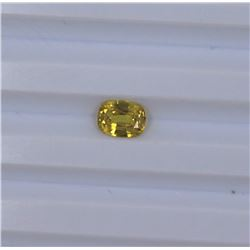 1.55ct Yellow Sapphire Oval cut