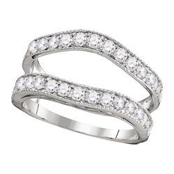 1 CTW Diamond Ring 14KT White Gold - REF-82W4K