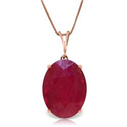 Genuine 7.7 ctw Ruby Necklace Jewelry 14KT Rose Gold - REF-70T6A