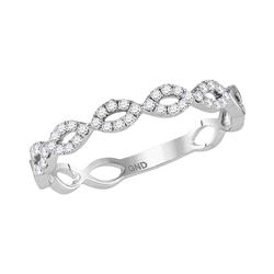 0.20 CTW Diamond Stackable Ring 10KT White Gold - REF-19N4F