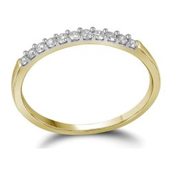 0.15 CTW Diamond Wedding Ring 14KT Yellow Gold - REF-14H9M