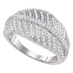 0.40 CTW Diamond Milgrain Ring 10KT White Gold - REF-44M9H