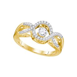 1 CTW Diamond Twinkle Solitaire Moving Ring 10KT Yellow Gold - REF-37Y5X