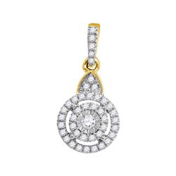 0.21 CTW Diamond Cluster Pendant 10KT Yellow Gold - REF-14H9M