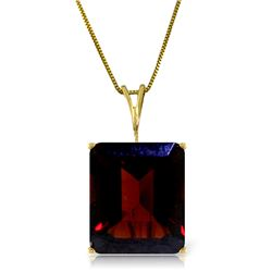 Genuine 7 ctw Garnet Necklace Jewelry 14KT Yellow Gold - REF-38F2Z