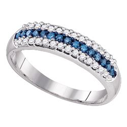 0.38 CTW Blue Color Diamond Ring 10KT White Gold - REF-26X9Y