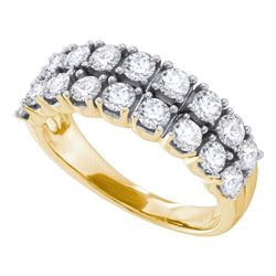 1.52 CTW Diamond 2-row Fashion Ring 14KT Yellow Gold - REF-157X5Y