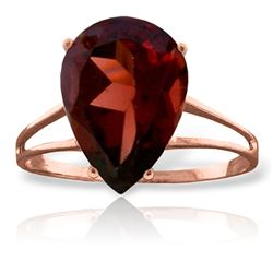 Genuine 5 ctw Garnet Ring Jewelry 14KT Rose Gold - REF-42K9V
