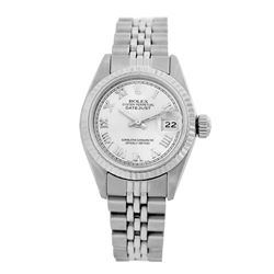 Rolex Pre-owned 26mm Womens Custom White Stainless Steel - REF-360W3Y