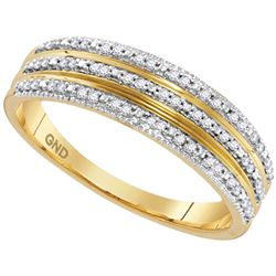 0.15 CTW Diamond Ring 10KT Yellow Gold - REF-19M4H