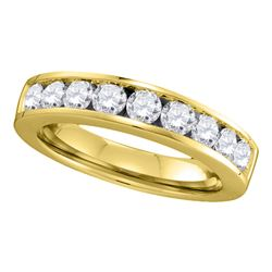 1 CTW Diamond Single Row Wedding Ring 14KT Yellow Gold - REF-119X9Y