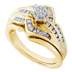 0.42 CTW Diamond Bridal Wedding Engagement Ring 10KT Yellow Gold - REF-67K4W