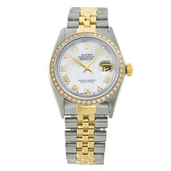 Rolex Pre-owned 36mm Mens White MOP Two Tone - REF-610M2R