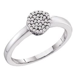 0.12 CTW Diamond Simple Cluster Ring 10KT White Gold - REF-14Y9X