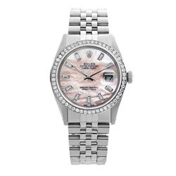 Rolex Pre-owned 36mm Mens Pink MOP Stainless Steel - REF-610M4R