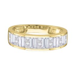 0.25 CTW Princess Diamond Wedding Ring 14KT Yellow Gold - REF-40H4M