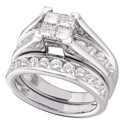 3 CTW Princess Diamond Bridal Engagement Ring 14KT White Gold - REF-359Y9X