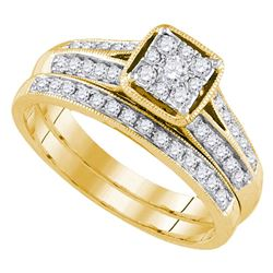 0.50 CTW Diamond Bridal Wedding Engagement Ring 14KT Yellow Gold - REF-65K9W