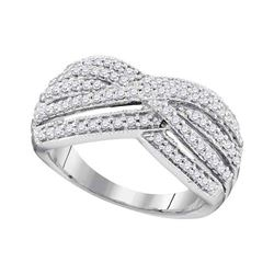 0.62 CTW Diamond Ring 10KT White Gold - REF-64K4W