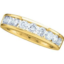 0.50 CTW Diamond Wedding Ring 14KT Yellow Gold - REF-52K4W