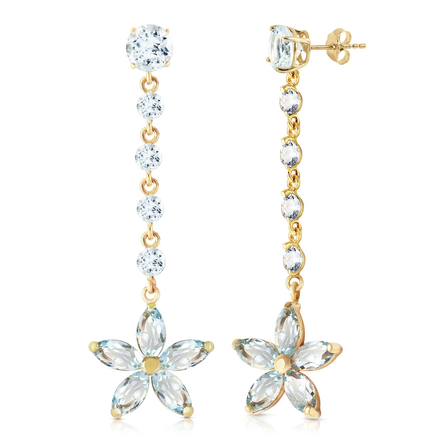 genuine aquamarine gold jewelry image rose ref earrings ctw