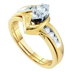 0.24 CTW Marquise Diamond Bridal Engagement Ring 10KT Yellow Gold - REF-34H4M