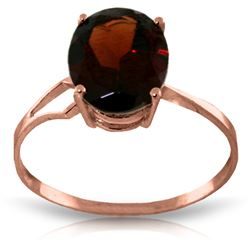 Genuine 2.2 ctw Garnet Ring Jewelry 14KT Rose Gold - REF-34N3R