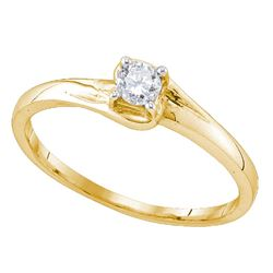 0.11 CTW Diamond Solitaire Bridal Ring 10KT Yellow Gold - REF-14Y9X