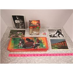 Elvis Collection Lot- Tin,Stamp,Ornament,4 Postcards
