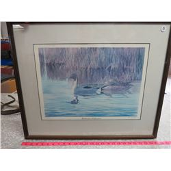 "C.D. Hiebert Framed Print-108/1850 ""Backwater Reflections"" 22""x25"""