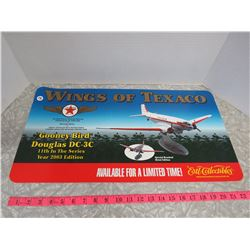 Wings of Texaco Ertl Collectible Sign 23.5x12.5 - Vinyl